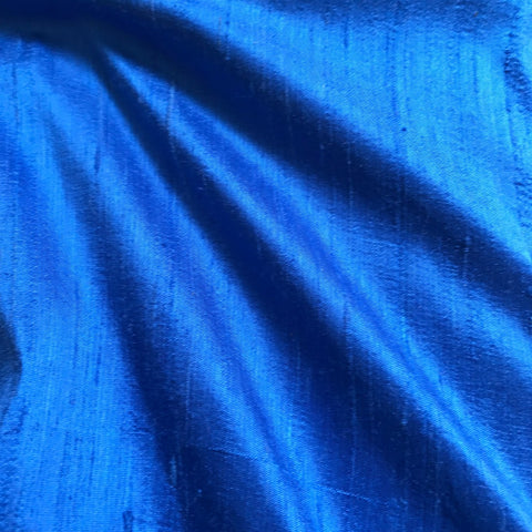 Light Blue Plain Raw Silk Fabric