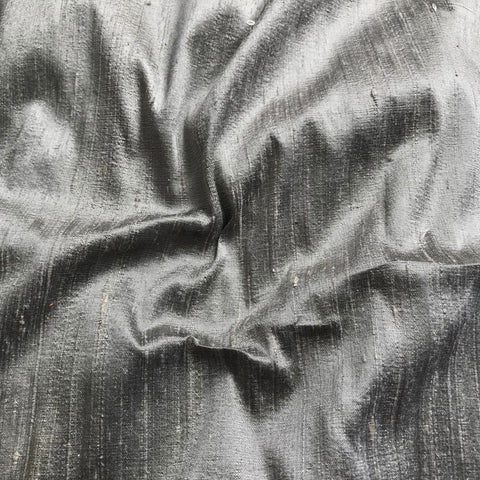 Dark Pista Plain Raw Silk Fabric