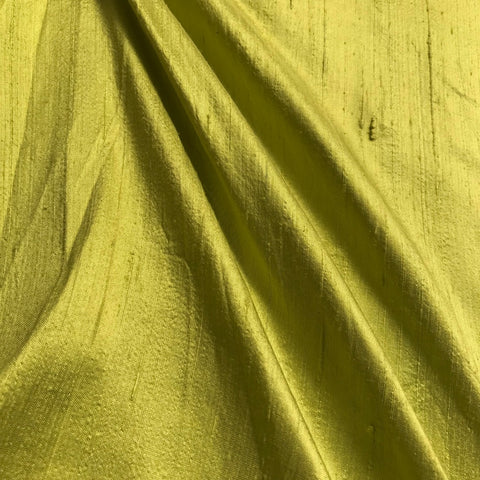 Parrot Green Plain Raw Silk Fabric