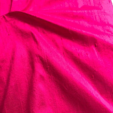 Princess Pink Plain Raw Silk Fabric