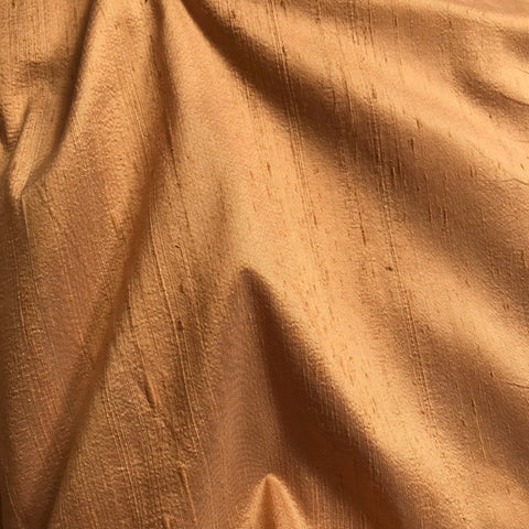 Dark Beige Plain Raw Silk Fabric