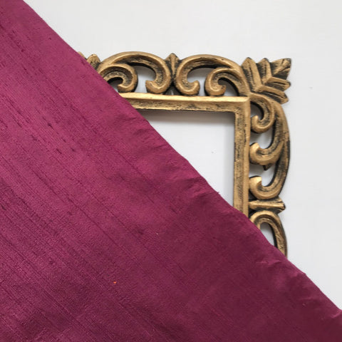 Light Magenta Plain Raw Silk Fabric