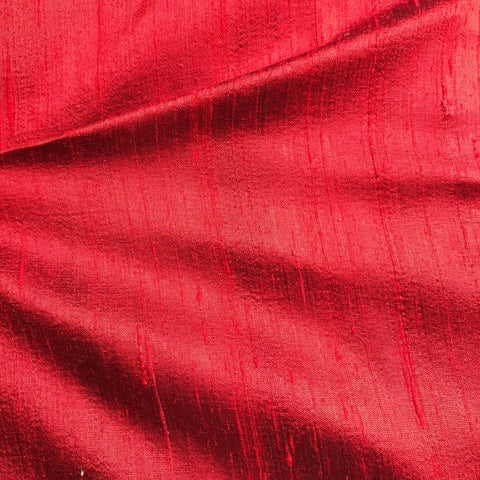 Maroonish Red Plain Raw Silk Fabric
