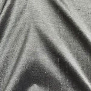 Metallic Grey Plain Doupion Silk Fabric