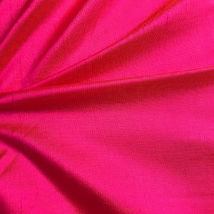 Princess Pink Plain Doupion Silk Fabric