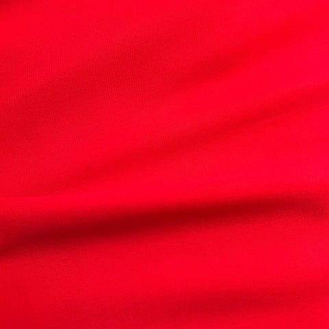 Blood Red Plain Georgette Fabric