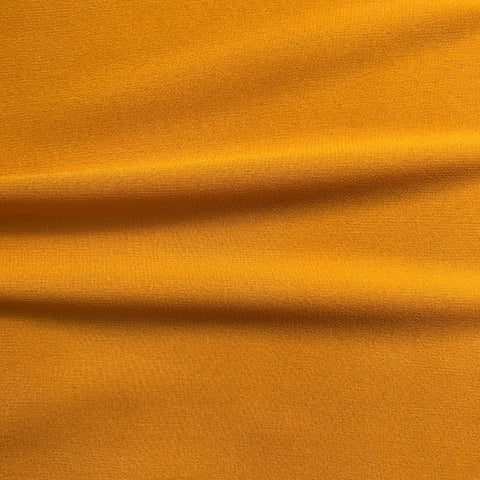 Mustard Yellow Plain Georgette Fabric