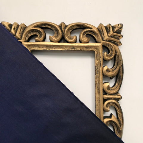 Navy Blue Plain Pure Silk Fabric
