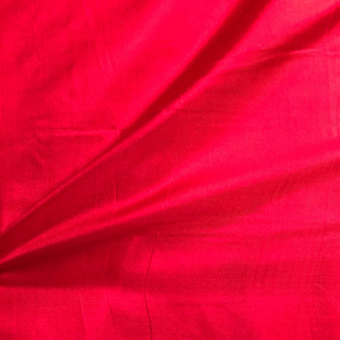 Blood Red Plain Pure Silk Fabric