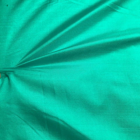 Sea Green Plain Pure Silk Fabric