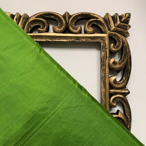 Parrot Green Plain Pure Silk Fabric