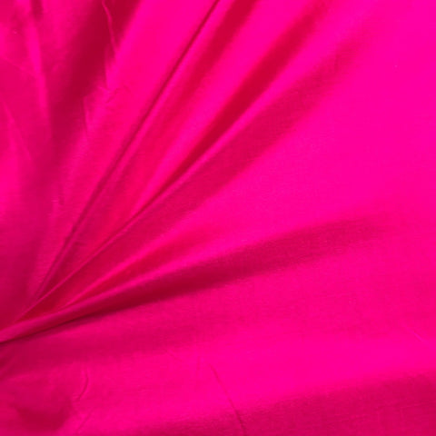 Dark Princess Pink Plain Pure Silk Fabric