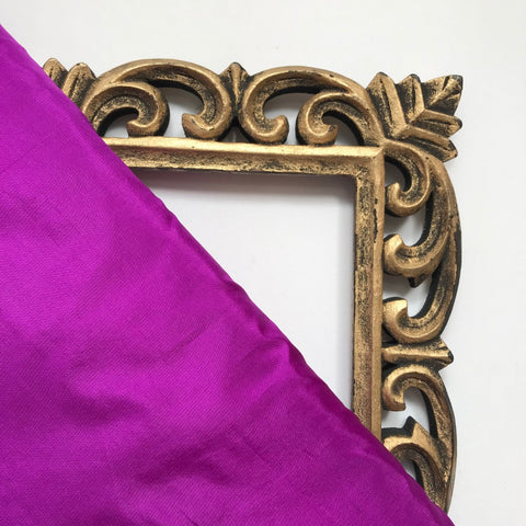 Dark Purple Plain Pure Silk Fabric