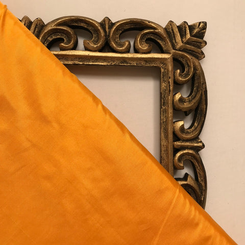 Mustard Yellow Plain Pure Silk Fabric