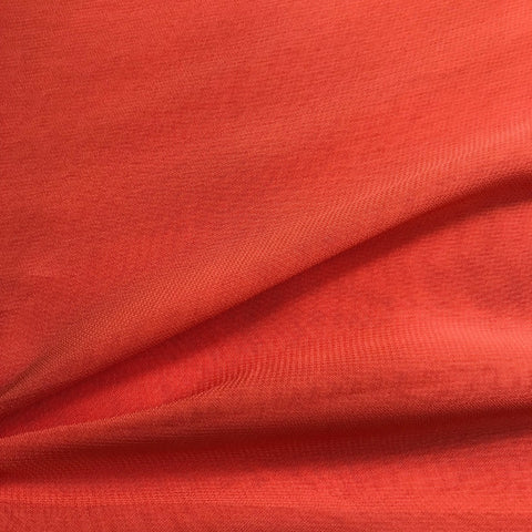 Orange Plain Viscose Georgette Fabric