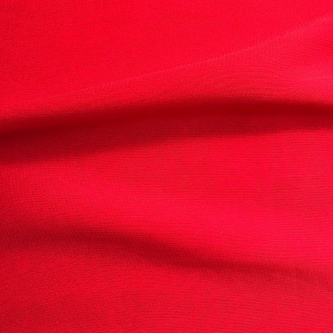 Blood Red Plain Viscose Georgette Fabric