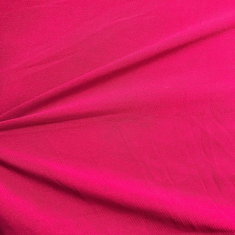 Magenta Pink Plain Viscose Georgette Fabric