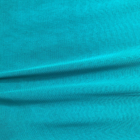 Sea Blue Plain Viscose Georgette Fabric