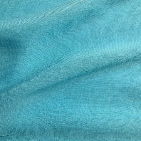 Dark Sky Blue Plain Viscose Georgette Fabric