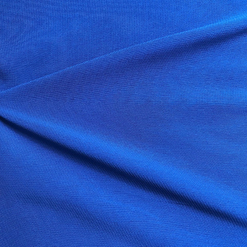 Royal Blue Plain Viscose Georgette Fabric