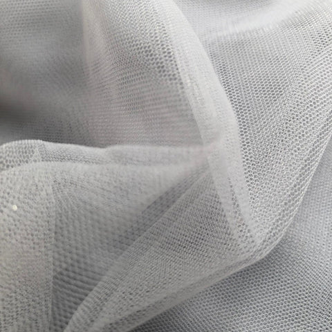 Grey Plain Korean Net Fabric