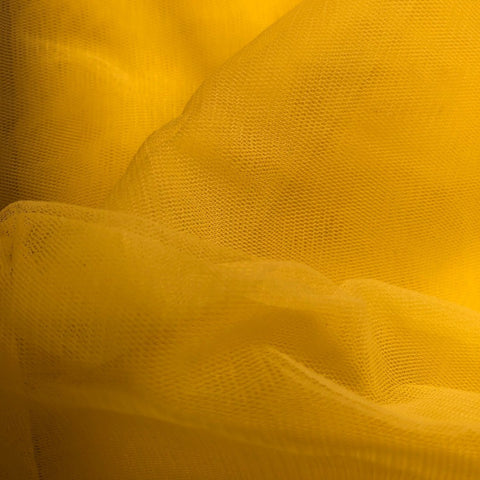 Yellow Plain Korean Net Fabric