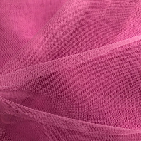 Pink Plain Korean Net Fabric