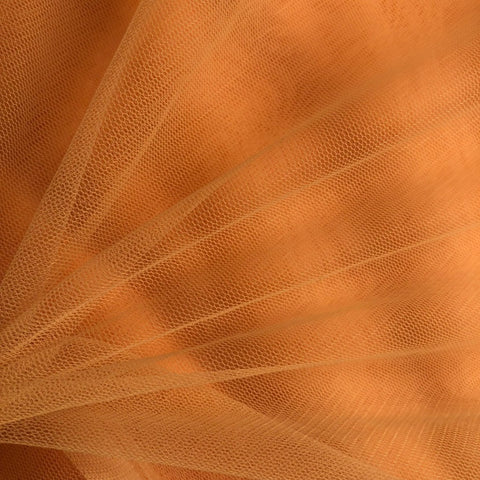 Peach Plain Korean Net Fabric