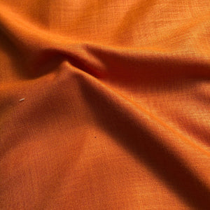 Rust Orange Plain Cotton Matka Fabric