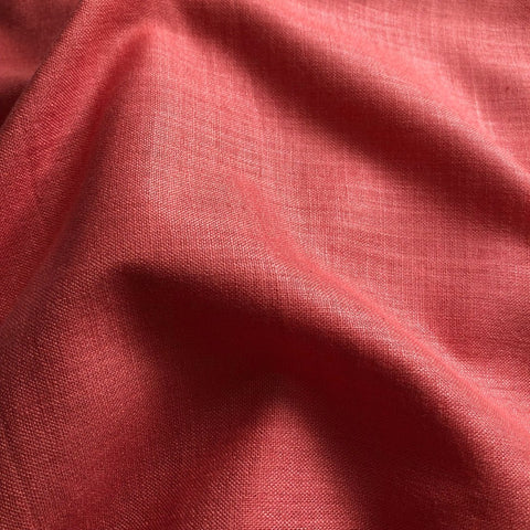 Coral Peach Plain Cotton Matka Fabric