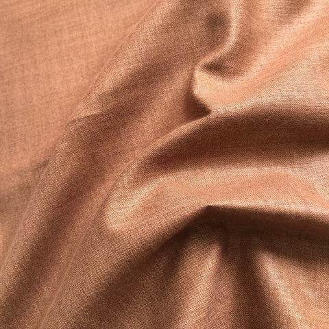 Chocolate Brown Plain Cotton Matka Fabric