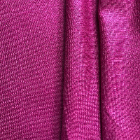 Magenta Purple Plain Cotton Matka Fabric