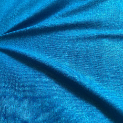 Blue Plain Cotton Matka Fabric