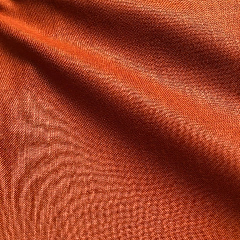 Dark Rust Plain Cotton Matka Fabric