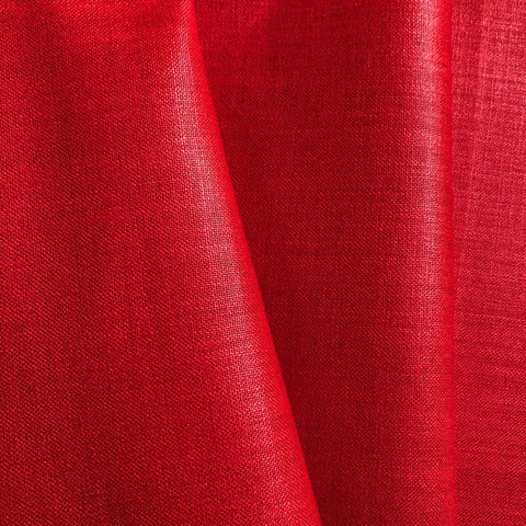 Blood Red Plain Cotton Matka Fabric