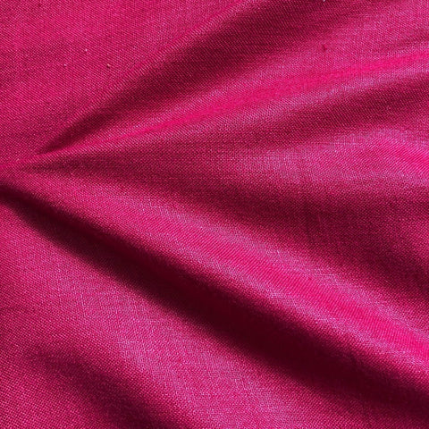 Magenta Pink Plain Cotton Matka Fabric