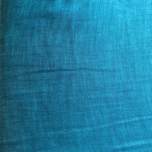 Dark Ferozi Blue Plain Satin Linen Fabric