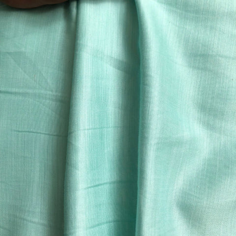 Sea Green Plain Satin Linen Fabric