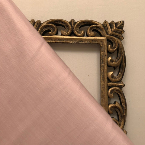 Pastel Pink Plain Satin Linen Fabric