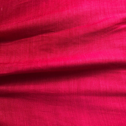 Princess Pink Plain Satin Linen Fabric