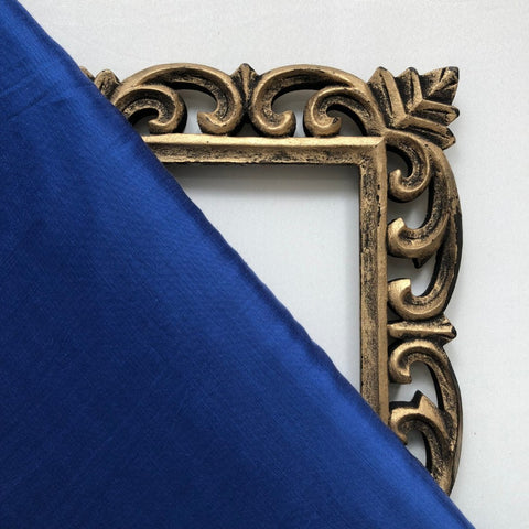 Royal Blue Plain Satin Linen Fabric