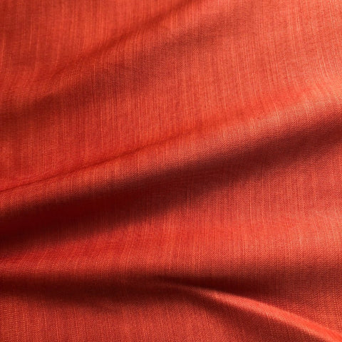 Rust Plain Satin Linen Fabric
