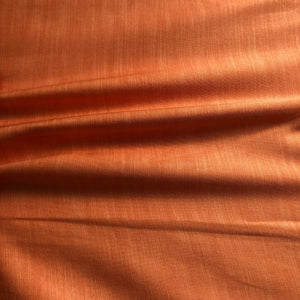 Dark Peach Plain Satin Linen Fabric