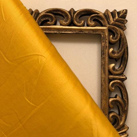 Mustard Yellow Plain Satin Linen Fabric