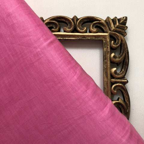 Bright Pink Plain Cotton Matka Fabric