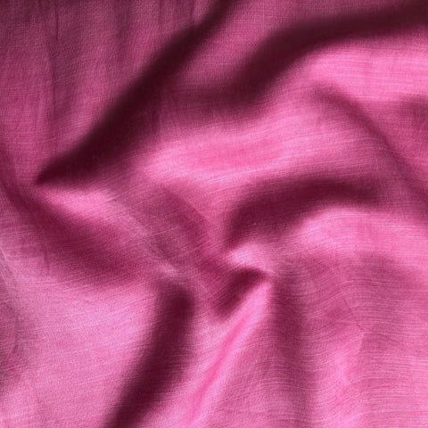 Dark Pink Plain Satin Linen Fabric
