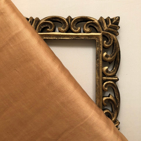 Gold Plain Satin Linen Fabric