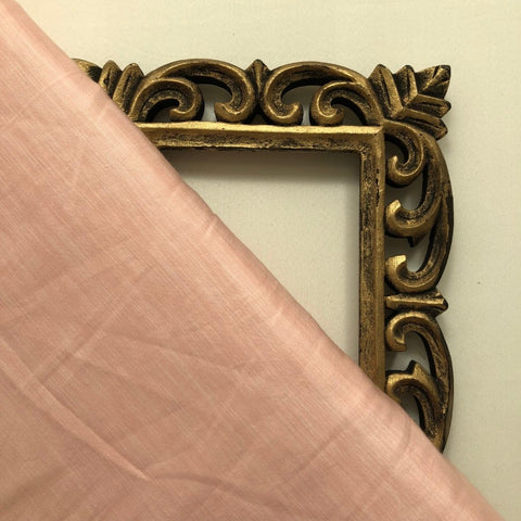 Pastel Peach Plain Satin Linen Fabric