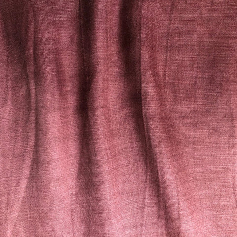 Dark Wine Plain Satin Linen Fabric
