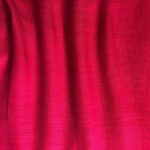 Two Tone Pink Plain Satin Linen Fabric